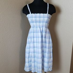 Vineyard Vines Blue Plaid Girls Dress